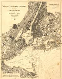 Map Of Old New York by New York City 1860 Landsat Science