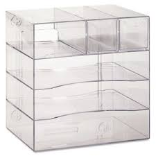 Rubbermaid Plastic Shelving by Rubbermaid Rub94600ros Optimizers Four Way Organizer With Drawers