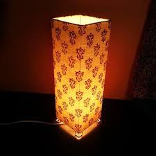 Square Table Lamp Kadhi Square Table Lamp Online Home Decor Shopping Buy