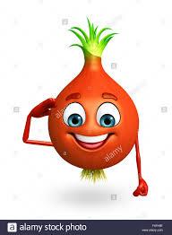 3d rendered illustration of onion cartoon character stock photo