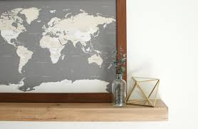 Pin World Map by World Map Push Pin Travel Map World Map Wedding Framed