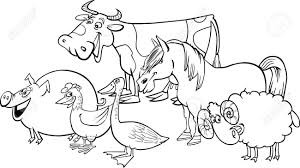 farm animals clipart black and white pencil and in color farm