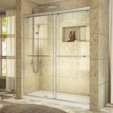 Frameless Glass Shower Door Kits Acrylic Shower Stalls Kits Showers The Home Depot