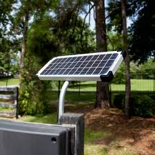 Solar Powered Gate Lights - mighty mule 10 watt solar panel for gate openers