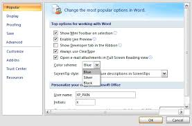 Can You Black With Color Change The Default Color Scheme In Office 2007