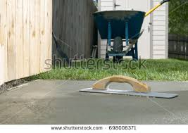 Backyard Concrete Slab Cement Screed Stock Images Royalty Free Images U0026 Vectors
