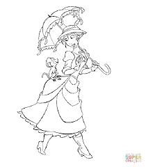 fancy nancy umbrella coloring free printable coloring
