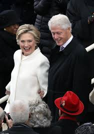 hillary clinton in white pantsuit for trump inauguration daily