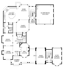 U Shaped House Plans With Courtyard U Shaped Home With Unique Floor Plan Hwbdo64049 New American
