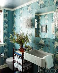 15 bathroom wallpaper ideas wall coverings for bathrooms elle fun