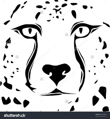 stock vector cheetah face tribal design 68747863 jpg 1478 1600