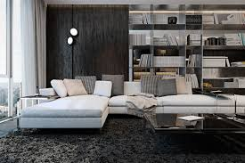 Modern Interior Design For Apartments Three Luxurious Apartments With Dark Modern Interiors