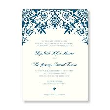 Damask Wedding Invitations Dapper Damask Thermography Wedding Invitations From Marry Moment