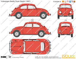 volkswagen clipart the blueprints com vector drawing volkswagen beetle u0027super beetle u0027