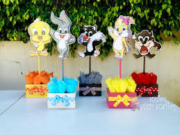 baby looney tunes baby shower decorations baby looney tunes baby shower or 1st birthday inspired by baby
