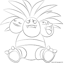 103 exeggutor pokemon coloring pages printable