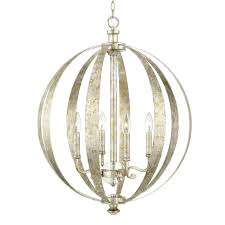 Silver Chandelier by Silver And Gold Globe Chandelier Shades Of Light