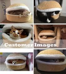 kitty cat hamburger bed u2013 absoluteawesomestuff