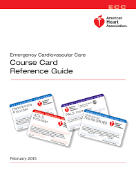 course card reference guide american heart association
