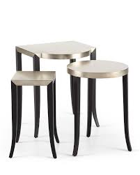 3 piece nesting tables silver black 3 piece nesting tables