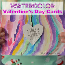 watercolor valentine u0027s day cards my big fat happy life