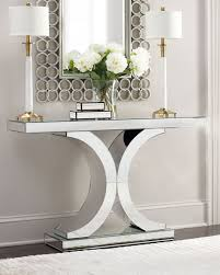 modern console table decor splendora mirrored console entrance pinterest consoles foyers