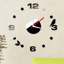 wall sticker decoration cheap china online china buy suppliers relogio de parede removable diy home decoration digits wall clock sticker set creative mirror effect acrylic