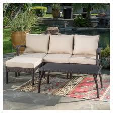 maui 5pc all weather wicker patio l shaped sofa set christopher