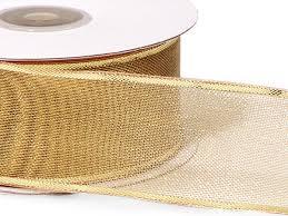 metallic gold ribbon gold wired metallic mesh ribbon 1 1 2 x25 yds w125g