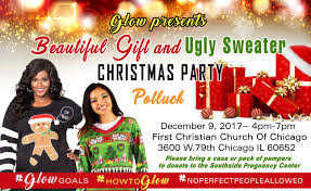 beautiful gift and ugly sweater christmas party first christian