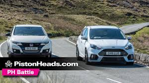 focos lexus honda civic ford focus rs vs honda civic type r at anglesey ph battle youtube