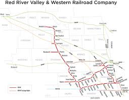 Map Of Fargo Red River Valley U0026 Western Railroad Company Home