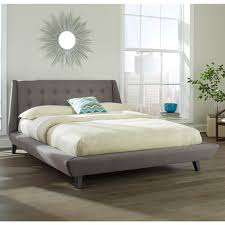Upholstered Platform Bed King Prelude Upholstered Platform Bed In Ash Humble Abode