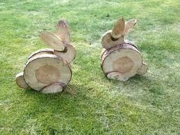 the best diy yard ideas wood slices yard and bunnies