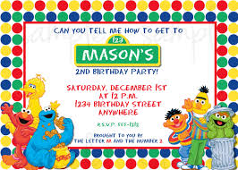birthday invites breathtaking sesame street birthday invitations