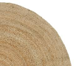 Small Round Braided Rugs Round Jute Rug Natural Pottery Barn