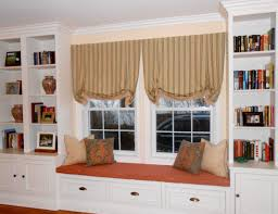 Built In Bookshelves With Window Seat Cabinetry Toni Sabatino Style