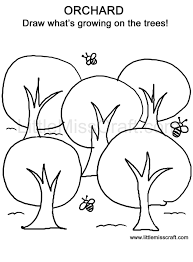 crafts orchard doodle coloring page