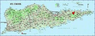 map st croix st croix map caribbean major tourist attractions maps