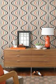 Contemporary Wallpaper Hendrix Orange Gravure Ogee Wallpaper On Hautelook Near Future