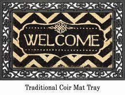 Outdoor Coir Doormats Coir Decorative Welcome Backed Doormat 16 X 28