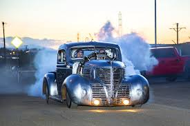 Old Ford Truck Engines - raw 1939 plymouth pickup draws power from radial airplane engine