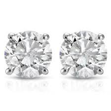 diamond stud 1ct diamond studs 14k white gold ebay