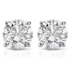 white gold studs 1ct diamond studs 14k white gold ebay