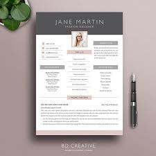 creative resume template 2 modern professional boutique style