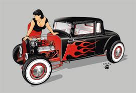 vintage cars drawings rod and by cryingbear deviantart com on deviantart