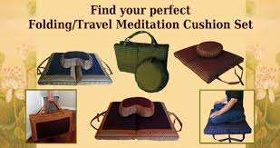 meditation cushion sets zafu zabuton travel folding meditation
