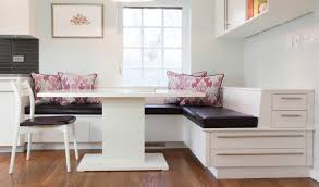 banquette seating design for compact and fashionable gathering