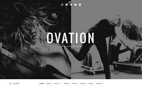 wordpress themes for band websites