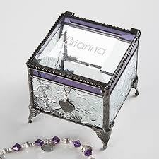 personalized jewelry gift boxes personalized jewelry box engraved glass name gifts
